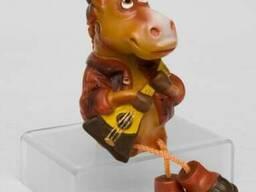 16075 Фигурка гипсовая Конь Ваня цв.