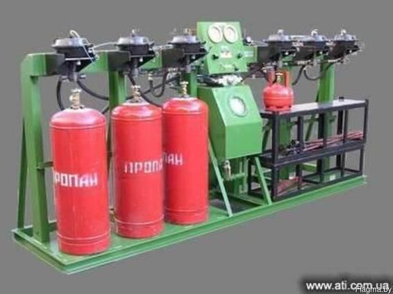 Агрегат гидравлических испытаний и дегазации баллонов АГДБ-2
