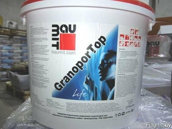 Акриловая штукатурка Baumit GranoporTop