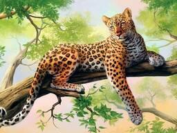 """Алмазная мозайка """"Леопард"""""""