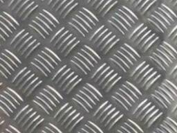 Алюминий листовой рифленый толщина 3мм и 1мм рифл. Резка