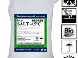 """Антигололедный реагент """"Radmix Eco Salt""""-15с 25кг."""
