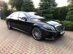 Аренда авто в Минске с водителем. Mercedes W222 Long S500