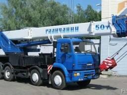 Аренда автокрана 50 тонн Галичанин.