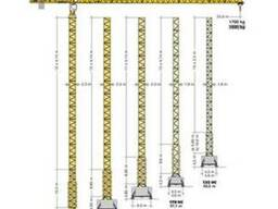 Аренда башенного крана Liebherr 132 EC-H8 г/п 8 т. в Минске