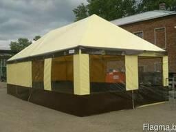 Аренда изготовление торговые шатры павильоны Палатки ПВХ лог