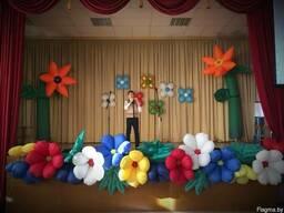 Аренда Гирлянда надувные Цветы разноцветные прокат Минск
