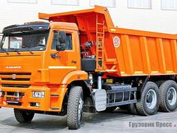 Аренда самосвала КамАЗ 20 тонн 16 м3