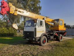 Автокран 25 тонн, стрела 28 метров. Аренда крана.
