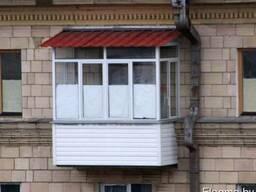 Балконные алюминиевые рамы, безрамное остекление.