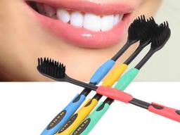 Бамбуковые зубные щетки с угольным напылением Guanbo набор 4 шт