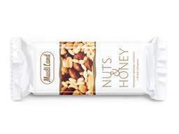 """Батончик орехово-медовый """"Nuts&Honey"""" с белой глазурью"""