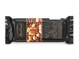 """Батончик орехово-медовый """"Nuts&Honey"""" с темной глазурью"""