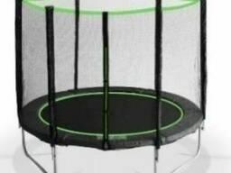 Батут MiSoon 425-14ft-Basic с внешней сеткой и лестницей