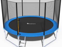 Батут складной Funfit 3,74 м. с защитной сеткой и лестницей