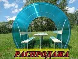 """Беседка для дачи """"Агросфера Пион"""" с цветным поликарбонатом."""