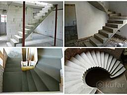 Бетонная лестница любой сложности от 3 до 7 дней