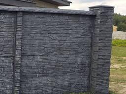 Бетонный двухсторонний забор