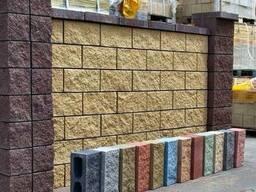 Бетонные блоки для забора / Забор из бетонных блоков