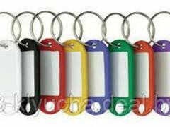 Бирки для ключей из качественного пластика