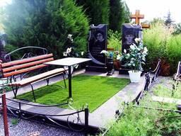 Благоустройство могил и установка памятника Солигор