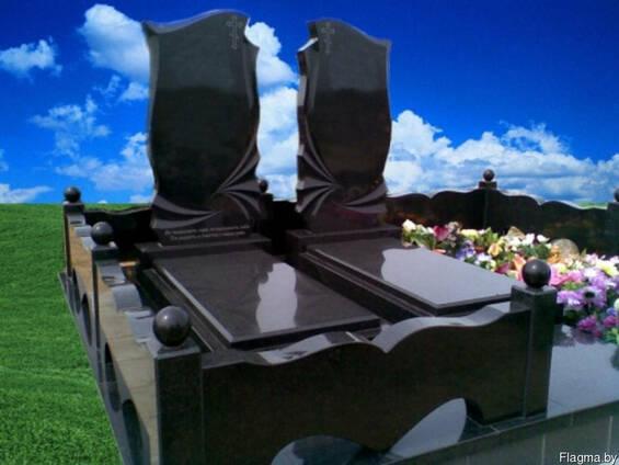 Благоустройство захоронений, памятники из гранита.