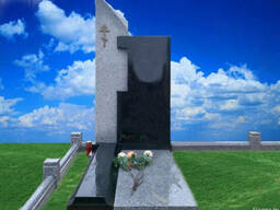 Благоустройство захоронений, памятники из гранита. - фото 3