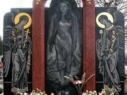 Благоустройство захоронений, памятники из гранита. - фото 5
