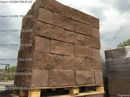 Блок цементно-песчаный декоративный цветной