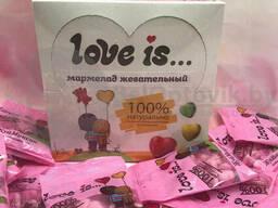 Блок мармелада жевательного Love is 100 натурально Клубника - Банан