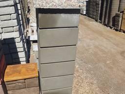 Блоки для забора Гладкие с фаской 40х40