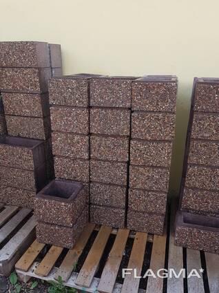 Забор из мытого бетона купить керамзитобетон на чертежах