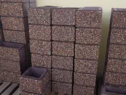 Блоки для забора Мытый бетон