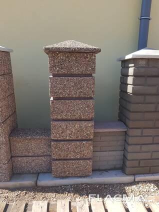 Блоки для забора Мытый бетон 40х40