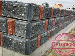 Блоки бессер фундаментые декоративные колотые для строений
