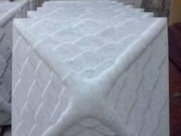 Бордюр тротуарный 50-4 см, 50-3.5 см. Крышки на забор. - фото 3