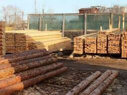 Брус стрелочного перевода Б2, шпалы деревянные тип 2, тип 1