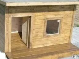 Будка для собаки с окном