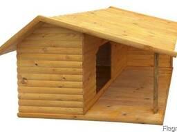 Будка для собаки с террасой