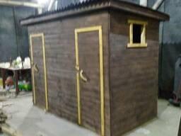 Бытовка 2в1 размер 3х1,5 деревянная