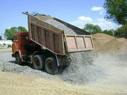 Цемент, песок, гравий, щебень. Доставка самосвалом 10т и 20т