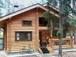 Дачный деревянный дом из оцилиндрованного бревна