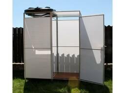 Дачный душ с тамбуром. Бак:55,110,150,200л(с нагревом и без)