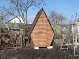 Дачный уличный (садовый) деревянный туалет «Теремок»