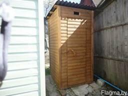 Дачный уличный (садовый) деревянный туалет из блок-хауса