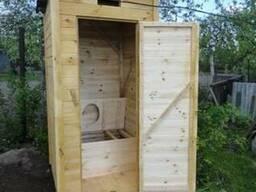 Дачный уличный (садовый) деревянный туалет из вагонки
