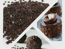 Декоративное драже осколки шоколадные 100гр