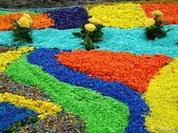 Декоративный цветной щебень