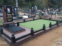 Установка памятников и благоустройство могил
