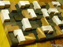 Декоративные панно из спилов дерева - фото 3